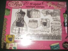 Paris Collection 10 clear craft stamps