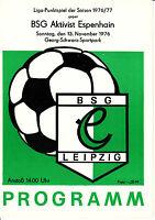 Aktivist Borna Programm 1988//89 Dynamo Eisleben