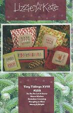 Lizzie Kate Christmas Tiny Tidings XVIII Cross Stitch Chart + Embellishment Pack