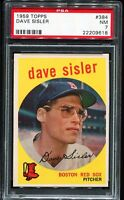 1959 Topps Baseball #384 DAVE SISLER Boston Red Sox PSA 7 NM
