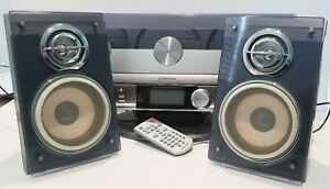 Emerson MS3110 Triple Play Linear 3 Compact Disc Player/Radio W/Remote Speakers
