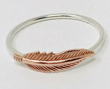 Feather Ring, Sterling Silver Ring Handmade, USA Copper Feather Fashion Ring