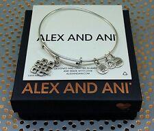 "ALEX and ANI ""Endless Knot"" Russian Silver Charm Bangle Bracelet"