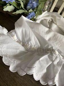 Vintage Martex White Ruffled And Ribbon Pillowcase