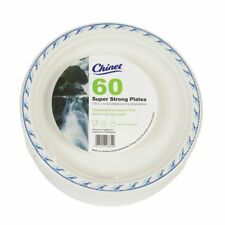 60 X Super Strong Plates Disposable Buffet Catering Wedding Party Events Chinet.