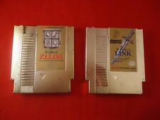 The Legend of Zelda & The Adventure of Link (Nintendo NES) Zelda 1 and 2 Gold