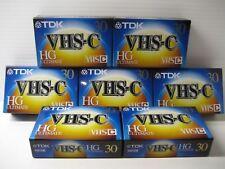 7 TDK VHS-C HG Ultimate Camcorder Video Cassette 30 Min Each Standard *