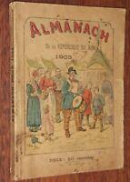 ALMANACH DE LA REPUBLIQUE DU JURA 1903 Mollard