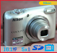 Nikon COOLPIX L27 16.1 Megapixel Digital Camera Silver Nikkor MP - AA Batteries