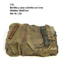 1/35 Resina accesorios para WWII GERMAN estiba detailing barrel lonas
