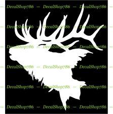 Elk Head with Big Antlers - Hunting/Outdoor - Vinyl Die-Cut Peel N' Stick Decals