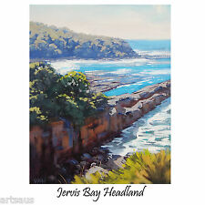 JERVIS BAY BEACH OIL PAINTING STRETCHED CANVAS TRADITIONAL SEASCAPE G. Gercken
