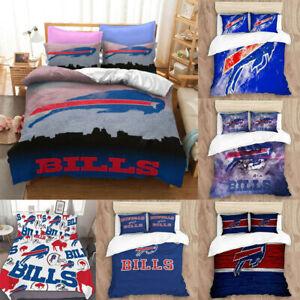 Buffalo Bills All Season 3PCS Bedding Set Duvet Cover Pillowcase Comforter Cover