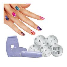 DIY Manicure 1 Set Salon Express Nail Art Polish Stencil Stamping X6D5