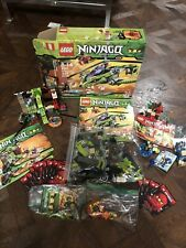 LOT OF NINJAGO LEGO SETS - 9558,9443,2558 AND FIGURES,SPINNERS AND CARDS