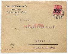 AK150 1916 Germany Leipzig Jul Herman & Co Cover {samwells-covers}