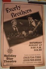 Orig 1985 Everly Brothers Concert Poster Holiday Star Theatre Merrillville In