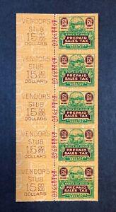 "United States Ohio State Revenue Hubbard #C42 Strip of 5 ""Rare""MNH"