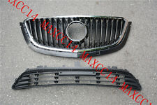 Set UPPER + LOWER FRONT Bumper Radiator grille for 2016-2017 Buick Envision