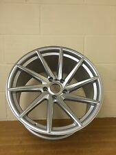 "4 x 18"" SILVER & POLISH STAGGERED CONCAVE WHEELS 8/9J ET35/33 BMW 3,4 + INSIGNIA"