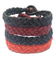 The WIDE Thai Wristband Men's Waxed Cotton Bracelet Handmade Wristwear