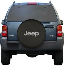 "Black Jeep Logo Spare Tire Cover Wheel R16 30"" Accessory New Free Shipping USA"
