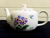 Vintage kent pottery tea pot...summer herb.