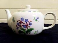 Vintage kent pottery tea pot...summer herb.