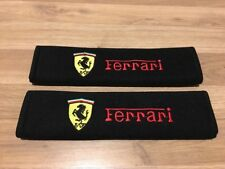 2X Seat Belt Pads Cotton Gifts Ferrari 360 458 488 California F12 FF 430 F355