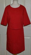 Papaya Polyester Patternless Short Sleeve Dresses for Women