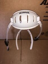 NEW RIDDELL FIRST EDITION FLEX HARD CUP CHIN STRAPS - WHITE