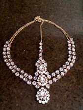 2 layer Kundan stones diamante goddess bridal wedding prom birthday head chain