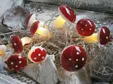 LED Pilz Lichterkette Deko Beleuchtung Herbst Girlande Shabby Chic Impressionen