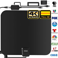 TV Antenna Newest 4k 1080p HDTV Indoor Digital Amplified Up 3600Miles/AC Adapter