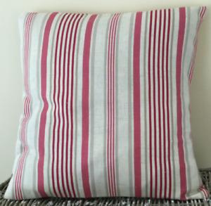 Striped cushion, handmade cushion, decorative cushion, throw cushion, deckchair