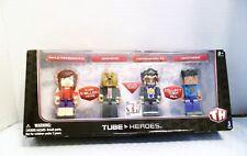 "DELUXE GAMING PACK FOUR 3"" TUBE HEROES IN ORIGINAL BOX"