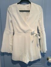 Seed Heritage white pleat detail jumpsuit playsuit romper size 6 XS