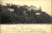 Blankenburg Thüringen Postkarte 1903 Ruine Greifenstein Burgruine Burg gelaufen