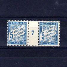 FRANCE Taxe n° 28 neuf avec charnière - Paire millésime 7