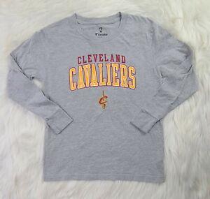 Fanatics NBA Cleveland Cavaliers Youth Size M Grey Long Sleeve T-Shirt