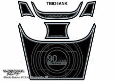 BMW R1200RT 2005 - 2013 Black Motorcycle Tank Pad Motografix 3D Gel Protector