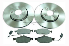 FORD MONDEO 1.6 1.8 2.0 MK2 1995-2000 FRONT 2 BRAKE DISCS & PADS & WEAR SENSORS