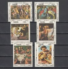 Panama, Scott cat. 482 A-E. Life of Christ, Religious Paintings issue.