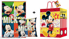 Topolino set regalo Coperta Plaid in Pile + Cusino + Borsa , bambina disney