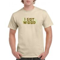 I Got Wood T Shirt Shaun of the Dead Simon Pegg Ed Costume Zombies Halloween