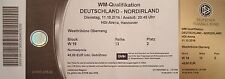 TICKET WC Qu 11/10/2016 Germany vs. Northern Ireland