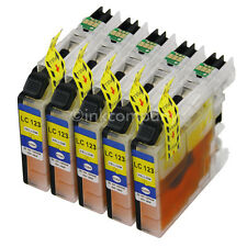 5 DRUCKER TINTE Patrone kompatibel zu LC121 LC123 LC125 Yellow gelb XL mit Chip