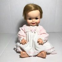 Vintage Ideal Tubsy 1967 Doll BT-18 Blonde Hair Blue Eyes Night Gown