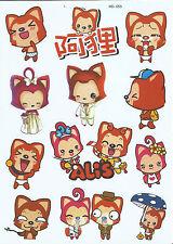 "Sticker-Set - 12 Aufkleber ""Anime Mix"" - Laptop - Stickerbomb - (M053)"