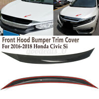 CARBON FIBER LOOK CAR HOOD BRA fit Honda Civic 1991-1995 NOSE FRONT END MASK